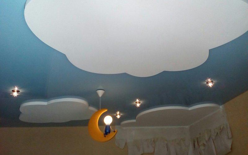 Цветной натяжной потолок в Воронеже